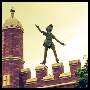 Peter Pan on roof